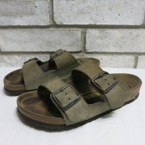 Birkenstock Suede Leather Slides Sandals Arizona 6